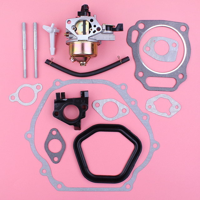 Carburetor Bolt Spacer Full Set Gasket Kit For Honda GX390 13HP Chinese 188F 190F Engine Motor Parts