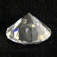 Круглой бриллиантовой огранки 7ct карат 12.5 мм GH Цвет Муассанит свободно камень ВВС отличный крой Класс Тесты Положительный Лаборатория diamond