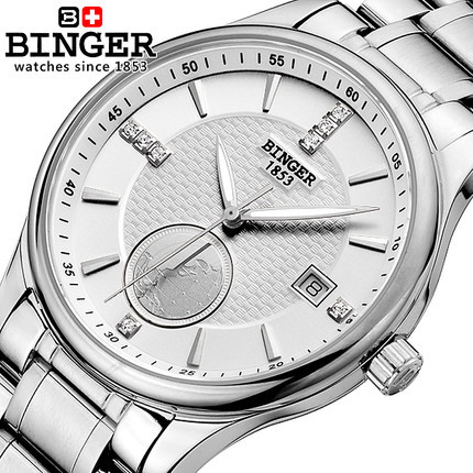2017 Men s World Map Binger Mechanical Watches Classic Transparent Steampunk Wristwatch Stainless Steel Watch