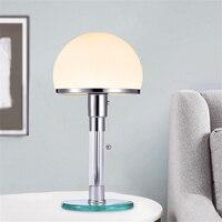 Дизайнерсветодио дный ский светодиодный настольный светильник Wilhelm Wagenfeld Bauhau настольные лампы спальня исследование прикроватные светодио