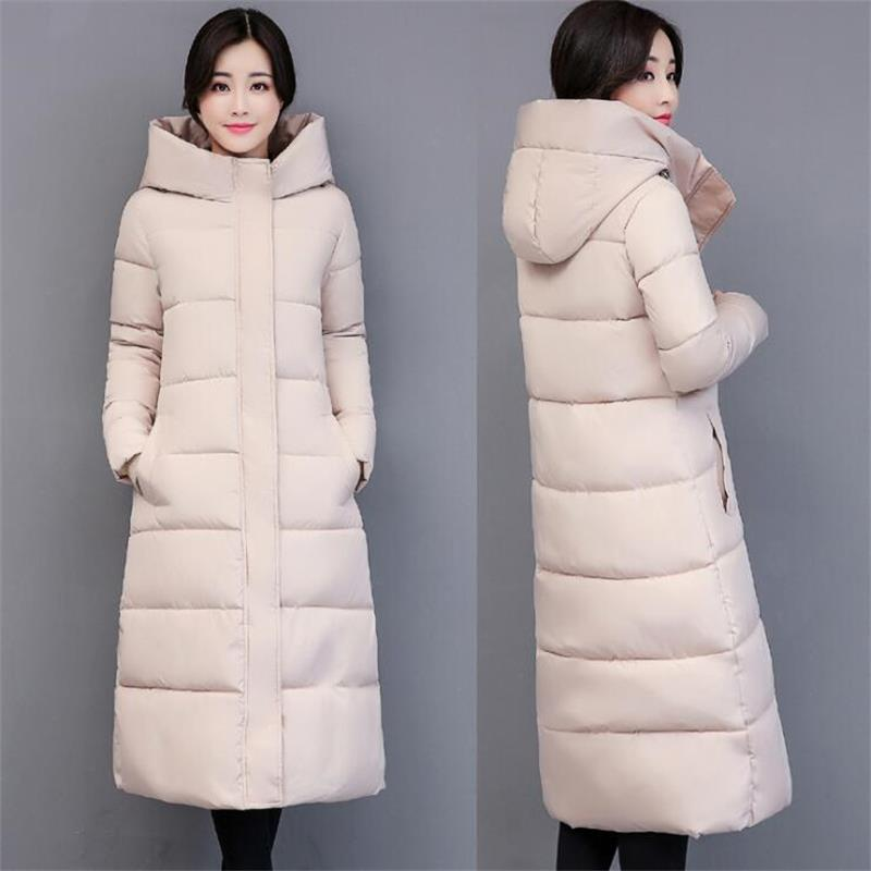 2018 Big size Long Women Winter Jacket Coats Thick Warm cotton   parkas   Coat Female High Quality Winter outerwear overcoat jacket