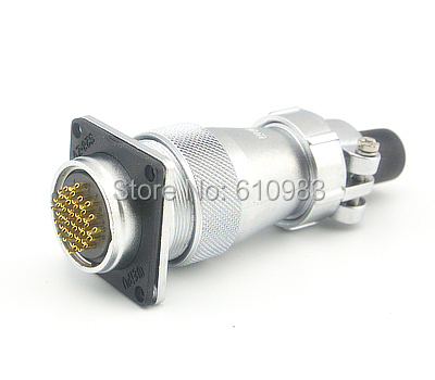цена на Free shipping WS28 4 Hole 26pin 28mm Plug XLR Aviation Panel Mount Socket Receptacle Wire Connector