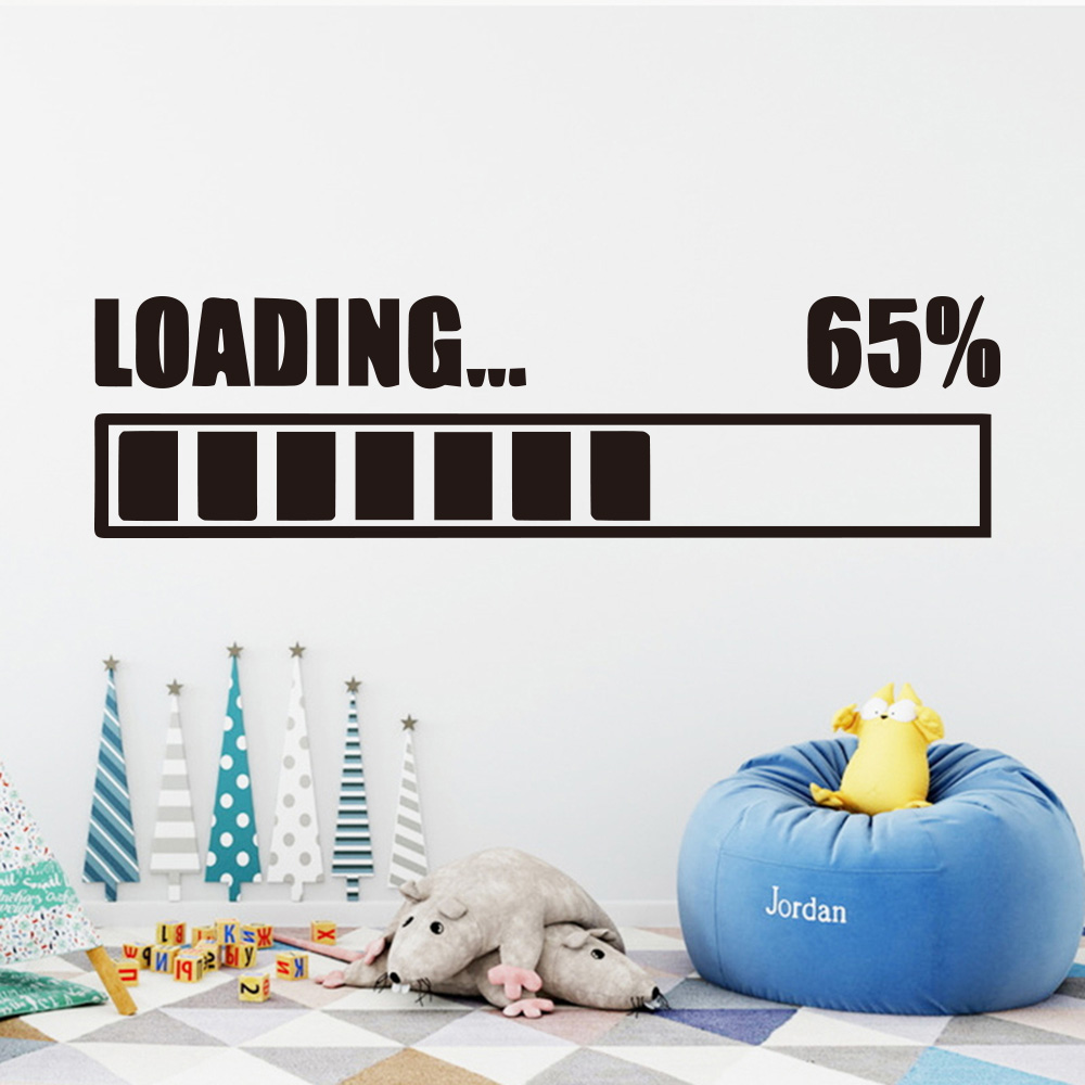 Aliexpress.com : Buy Funny game loading Wall Sticker for ... on Room Decor Stickers id=18945