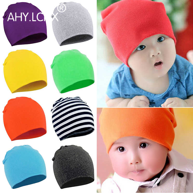 2018 New Brand Baby Hat Spring Unisex Boy Girl Kids Toddler Infant colorful Cotton Soft Cute Hats Caps Beanies for 0-3 years old