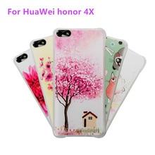 Для huawei honor 4x телефон случаях тпу рамка 3d рельеф крышка 360 градусов милый воздушной подушке антидетонационные shell для huawei honor 4x case
