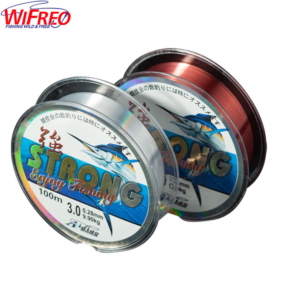 Wifreo Nylon Fishing Line 100M 2-35LB Monofilament Material for Carp fishing
