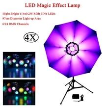 4Pcs/Lot 20W LED Magic Effect Lmap Projector DJ Music Stage Light 6/24 DMX Channels Disco KTV Party Performance Lights