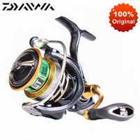 Oryginalny DAIWA EXCELER LT Spinning Fishing Reel 1000 2000 3000 6.2: 1 wysoki stosunek słodkowodne słonowodne Crap kołowrotek Spinning
