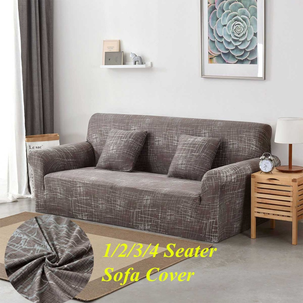 1//2//3 Seater Stretch Chair Sofa Covers Couch Elastic Fabric Slipcover Protector
