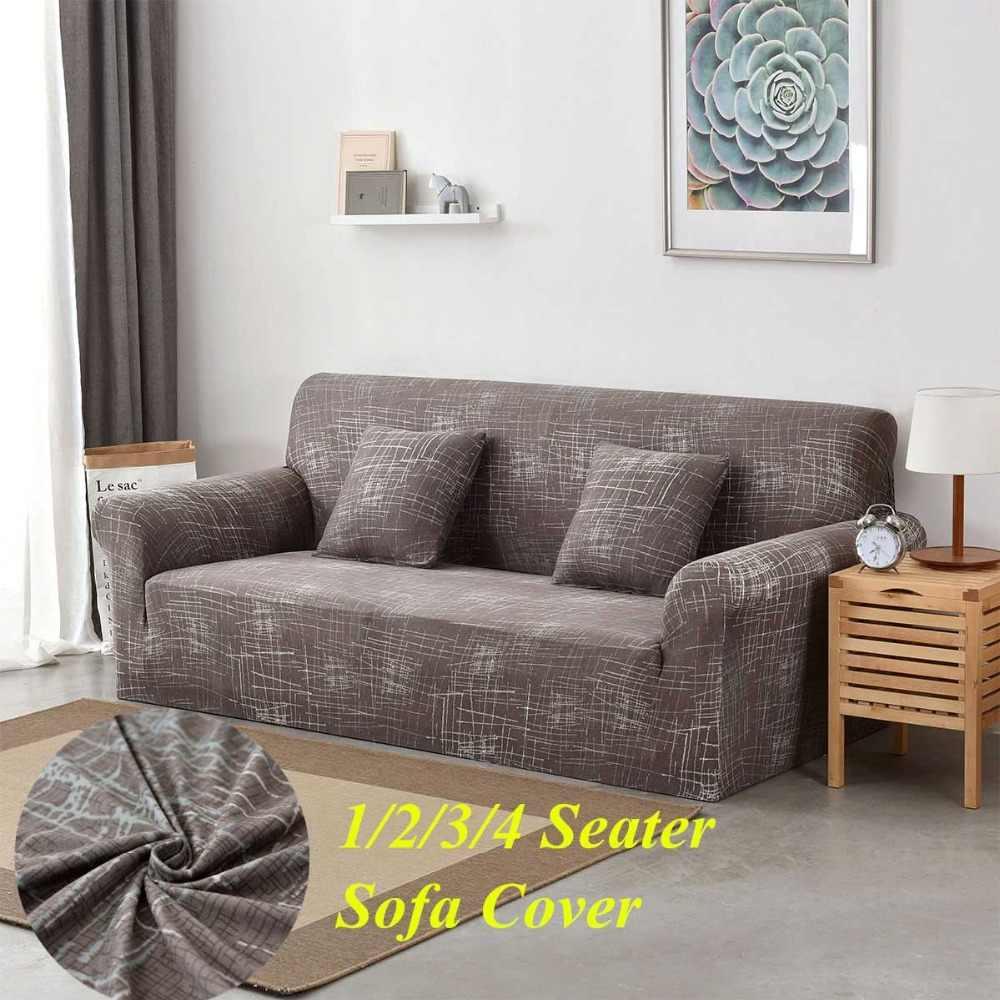 1/2/3/4 seater Sofa Cover Stretch Furniture Covers Elastic ...