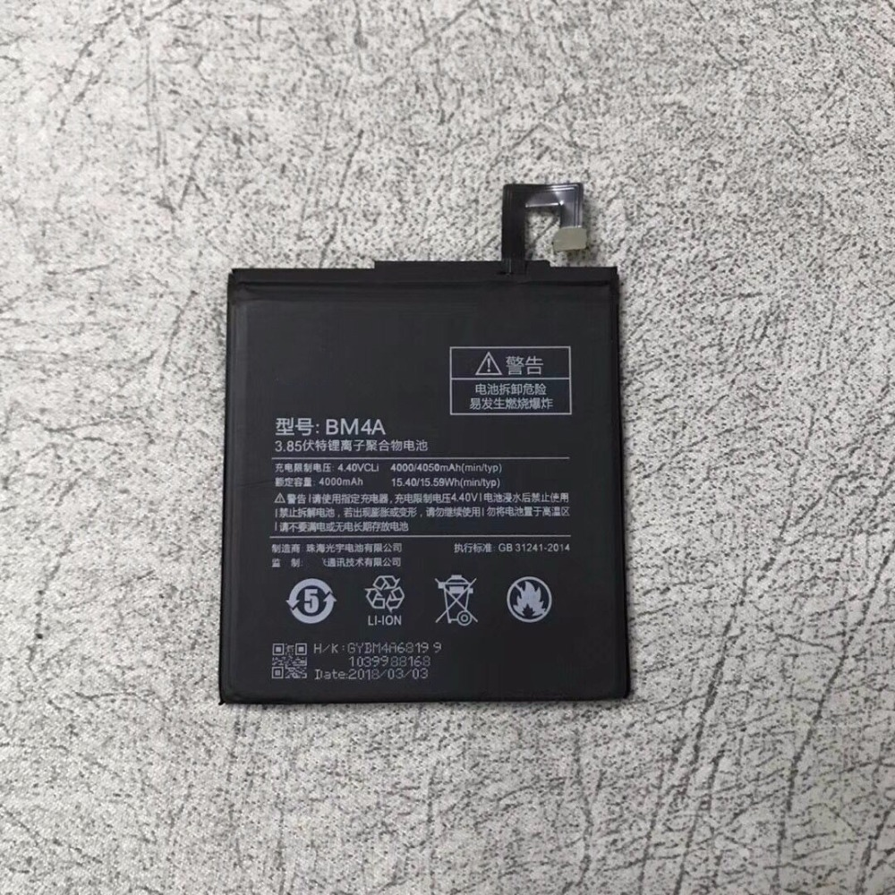 f6f018b8eb2 New High quality Real 4000 4050mAh BM4A Battery For Xiaomi Redmi Pro battery