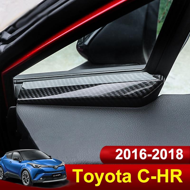 Carbon Fiber Style Door Handle Window Button Lift Cover Trim For Toyota CHR 16