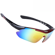 купить ACEXPNM 2018 Sports Men Cycling Glasses 5 Lens Polarized Bike Bicycle Riding Sunglasses MTB Goggles Eyewear With Myopia Frame дешево