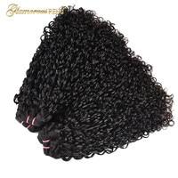 Glamorousremi Brazilian Flexi Curls 100% Human Remy Hair Double Drawn Funmi Hair Bundles Kinky Curly Hair Weave 3 PCS 1b sale