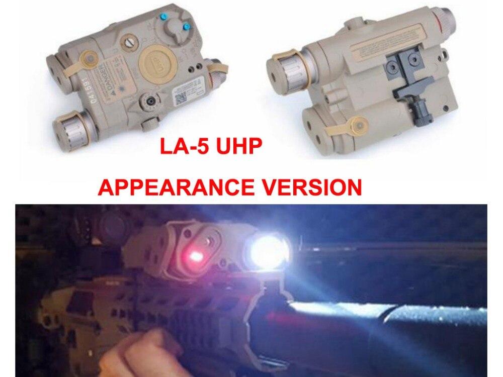 Chasse Accessoire Airsoft Laser pour Jeux de Tir LA-5 UHP Batterie Cas avec Rouge/IR Laser lampe de Poche