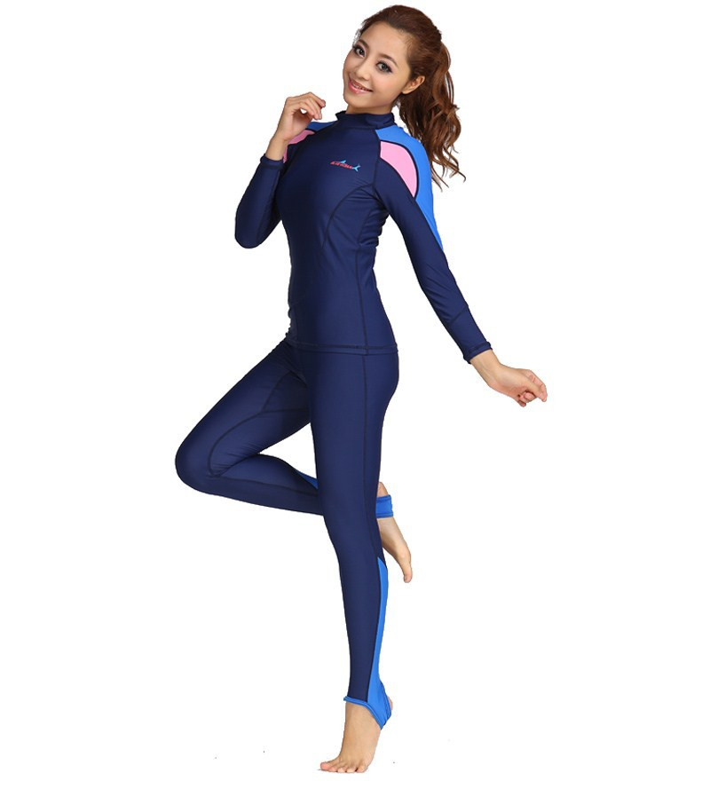 Men and Women Lycra Long Sleeves Floatsuit Swimwear Diving two pieces suit  UV Sun Protection Suit UPF50-in Wetsuit from Sports   Entertainment on ...