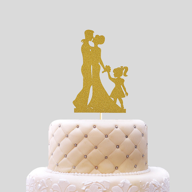 Cake Topper Couples Bride Wedding Cupcakes flags Glitter For Decor ...