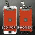 10 unids/lote pantalla lcd táctil digitalizador asamblea para iphone 5 5c 5s reemplazo blanco aaa calidad de dhl envío gratis