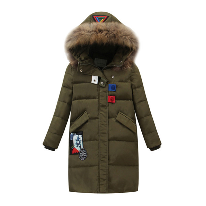 2017 New Kids Winter Collection Fashion White Duck Down Thick Girls Jacket Hooded Children Parkas Coats Plus Size 6-12Y  2016 new brand child girls winter white duck down jackets coats thick hooded outwar waistband kids girls warm down jacket parkas