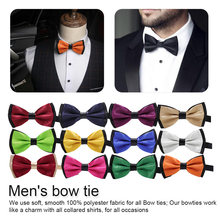 Classic Kid Suit Baby Boys Fashion Solid Color Adjustable Bow tie Children Wedding Tie