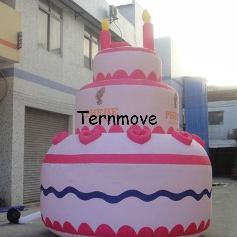 Terrific Giant Inflatable Birthday Cake Replica For Advertising For Party Personalised Birthday Cards Bromeletsinfo