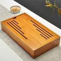 Kung Fu Tea Tray Wooden Serving Trays For Party Hotel Home Dinner Plate Dish Tableware Rubber