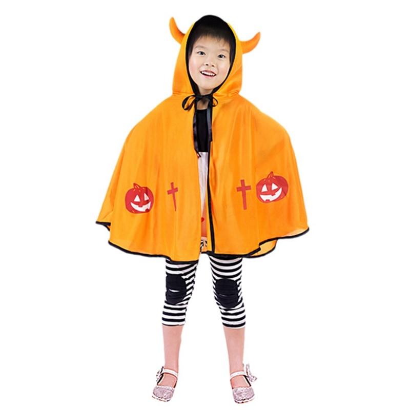 Heißer Halloween Umhang Kostüm Für Kinder Kind Halloween Cosplay Baby Mädchen Horn Cape Cape Teufel Mantel Mild And Mellow