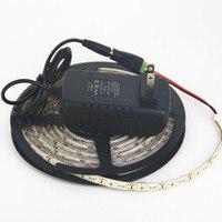 1 Kit IP65 Étanche 5 m 600 LED Lumière de Bande 3528 SMD 12 V Flexible LED Bande Blanc Froid Blanc Chaud Bleu Rouge + 12 V 2A Adater
