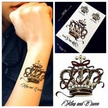 1PC Vintage Queen Crown Designs Fake Waterproof Temporary Tattoo Stickers HZ030 Women Body Arm Tattoo Back Neck Lower Arm Tatoo