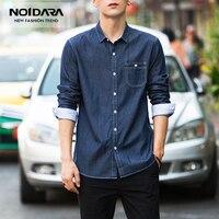No.1 Dara Men Shirt Brand 2018 Male High Quality Long Sleeve Shirts Casual Hit Color Slim Fit Black Man Dress Men Shirts
