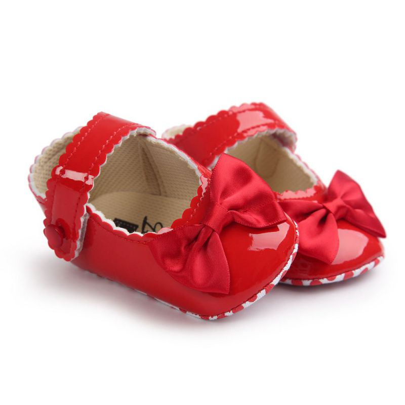 Mary Jane Bow PU Leather First Walkers Soft Soled 0-1T Infant Toddler Newborn Baby Girl Princess 5 Colors
