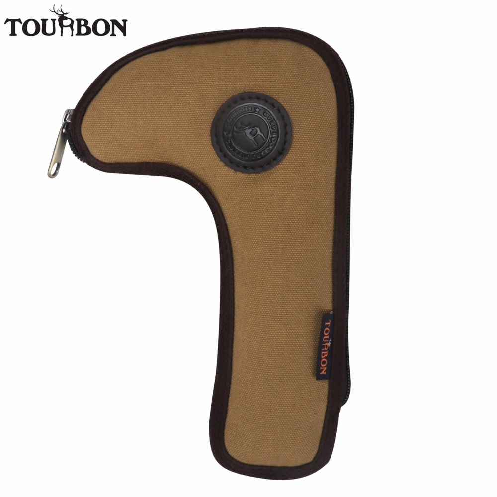 Tourbon Hunting Gun Accessories Tactical Canvas Rifle Bolt Holder Waist Belt Attachment Bolt Carrier Pouch
