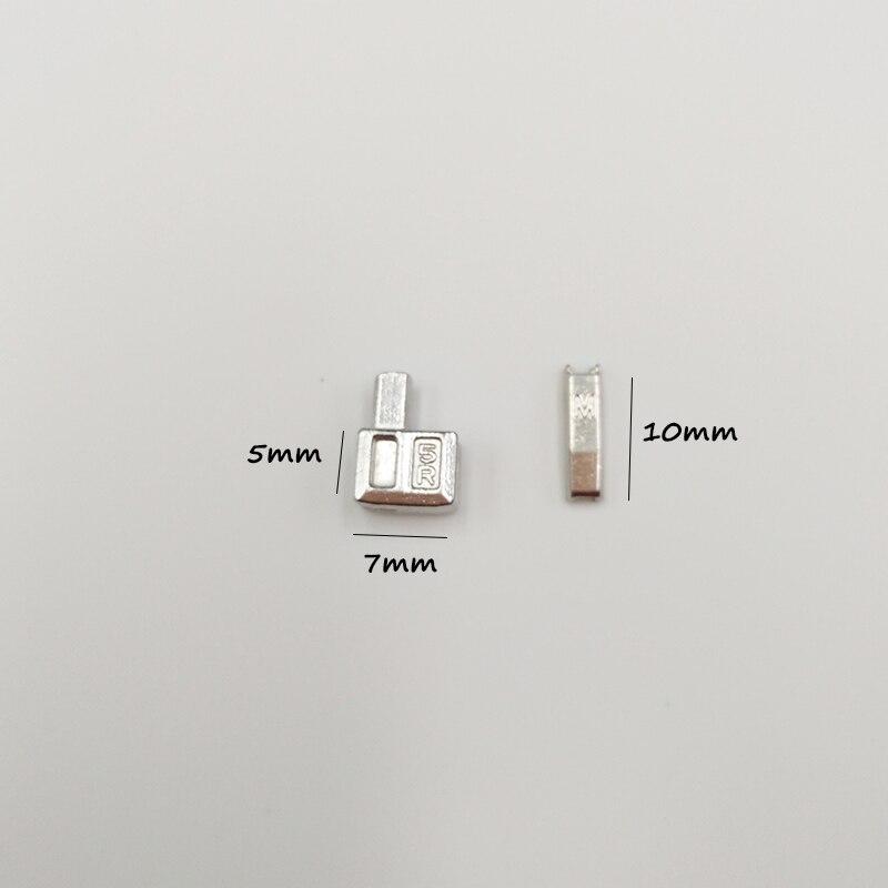 Metal Zipper Réparation Bouchon Pour Bricolage Accessoires Tailleur Outils couleur claire 15 ensembles