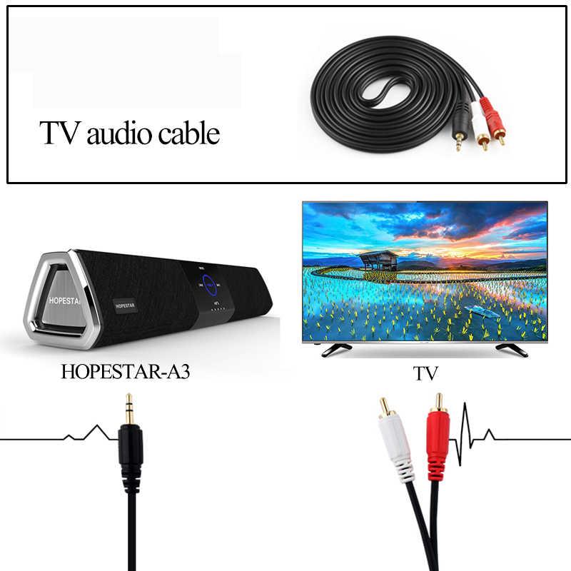 HOPESTAR A3 Bluetooth スピーカー 20 ワットテレビサウンドバーワイヤレスポータブルステレオ低音サブウーファーホームシアターシステムオーディオ、 Pc サウンドバーボックス