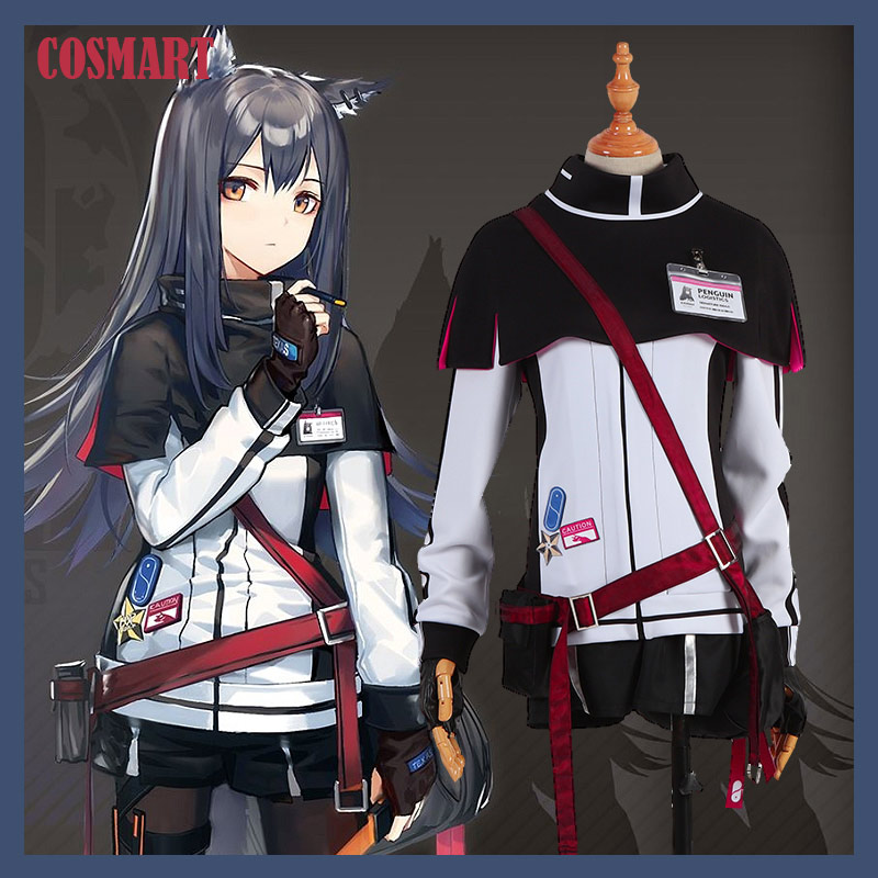 Game Arknights Texas Cosplay Costume Uniform Daily Wear with Ears Tails Halloween Costume For Women New 2019