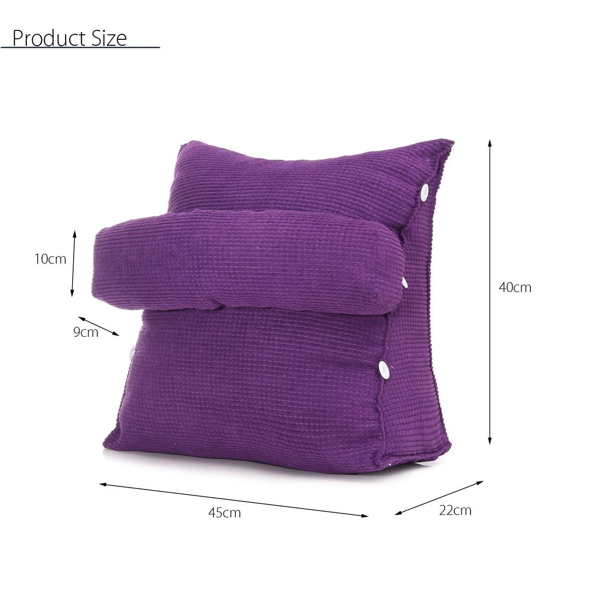 HTB1j1I5X2fsK1RjSszgq6yXzpXag Triangle Sofa Cushion Back Pillow Bed Backrest Office Chair Pillow Support Waist Cushion Lounger TV Reading Lumbar Home Decor