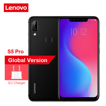 Global Version Lenovo S5 Pro 6GB 64GB Notch Screen Mobile Phone 20MP Four-cams 6.2 inch Cell Phone Snapdragon 636 4G Smartphone Lenovo Phones