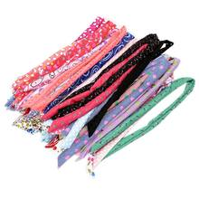 Women Girls Bohemian Long Rabbit Ears Iron Wired Hairband Sweet Candy Colored Paisley Floal Wave Point Printed Headband Elastic(China)
