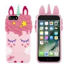3D Cartoon Luxury Pink Unicorn Horse Soft Silicon Case For Xiaomi Mi A2 lite A1 S2 F1 Redmi 5 plus 6 Note 4 4X pro Cover Coque