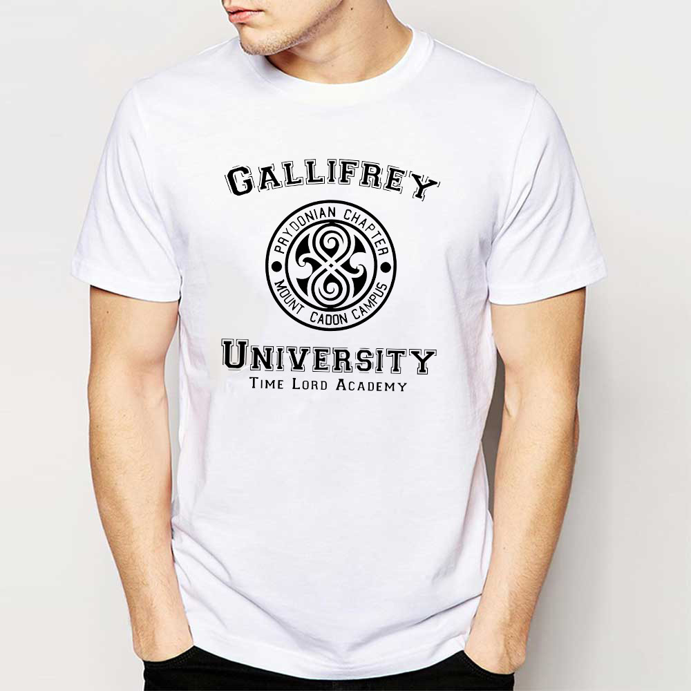 Fashion T Shirts Men Gallifrey University Man T Shirt
