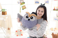 middle size gray plush owl toy new stuffed owl hand warmer doll gift about 38cm