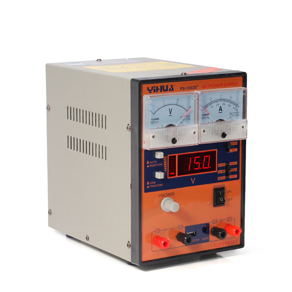 Laboratory power supply YIHUA <font><b>1502D</b></font>+ 15V 2A Adjustable DC Power Supply Regulated LCD Voltage Current Display Adjust image