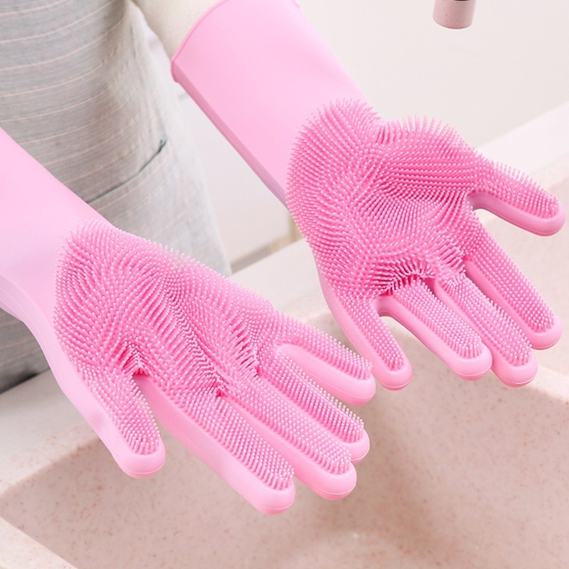 Image 2 - VOZRO Magic For Louder Rubber Garden Latex Hand Gloves Washing Dishes With Dish Washers For The Kitchen Car Wash And Pet Care-in Household Gloves from Home & Garden
