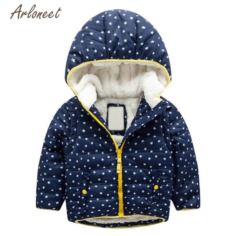 Arloneet Куртки и пальто для женщин Модная одежда для детей, Детская мода для девочек и мальчиков зимние хлопковые пальто с капюшоном Толстая Те...