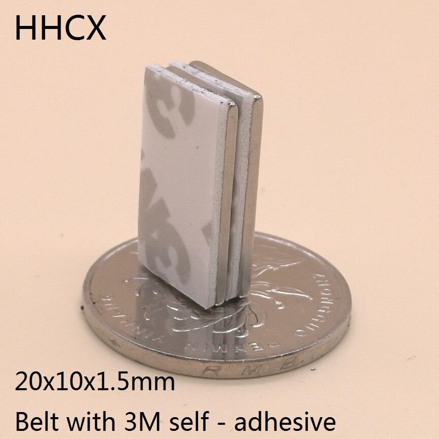 Magnetische Materialien Flight Tracker 50 Stücke/lotl 20x10x1,5mm N35 Starke Ndfeb Magnet 20*10*1,5mm Gürtel Mit 3 M Selbst-adhesive Neodym Magnete 20mm X 10mm X 1,5mm