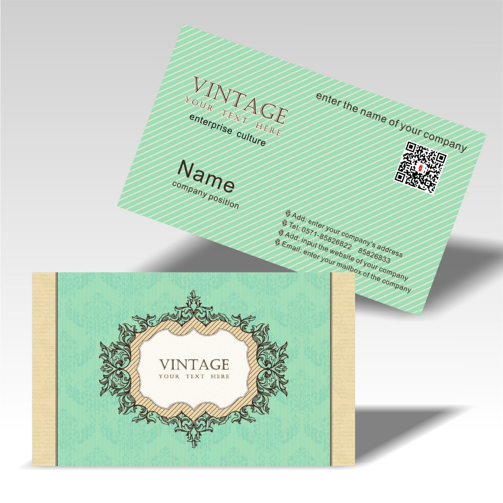 Livraison Gratuite Beau Design Colore Impression Cartes De Visite Personnalise Logo Deux Dimension Code Beafutiful 300gsm Papier Couche Dans