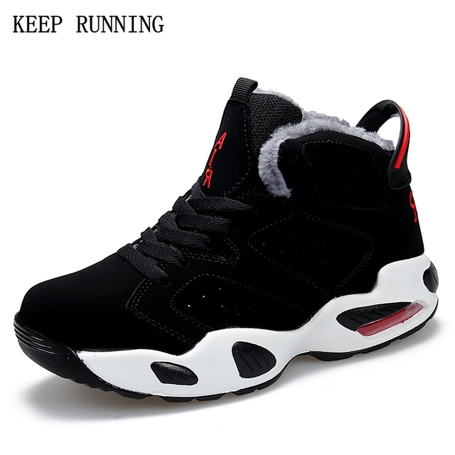 New Arrival 2017 Winter sneakers for men Outdoor Non-slip plush warm running shoes Cushion cushion sports men Basketball shoes