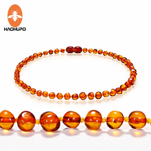 EAST WORLD Cognac Natural Amber Necklace for Baby Adult Baroque Baltic Beads Jewelry Stones Collar Supplier