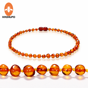 HAOHUPO Cognac Natural Amber Necklace fo