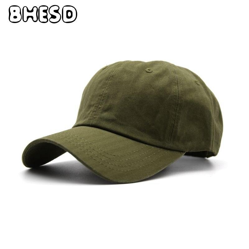 38082c2443e6 BHESD 2017 Army Green Dad Hat Women Men Cotton Baseball Cap Autumn Chic  Snapback Fitted Baseball Hat Gorros Bones Chapeu JY391